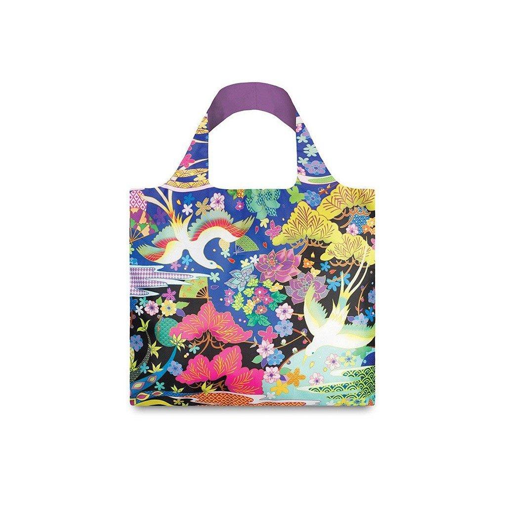 Nákupná taška LOQI Shinpei Naito Dancing Birds