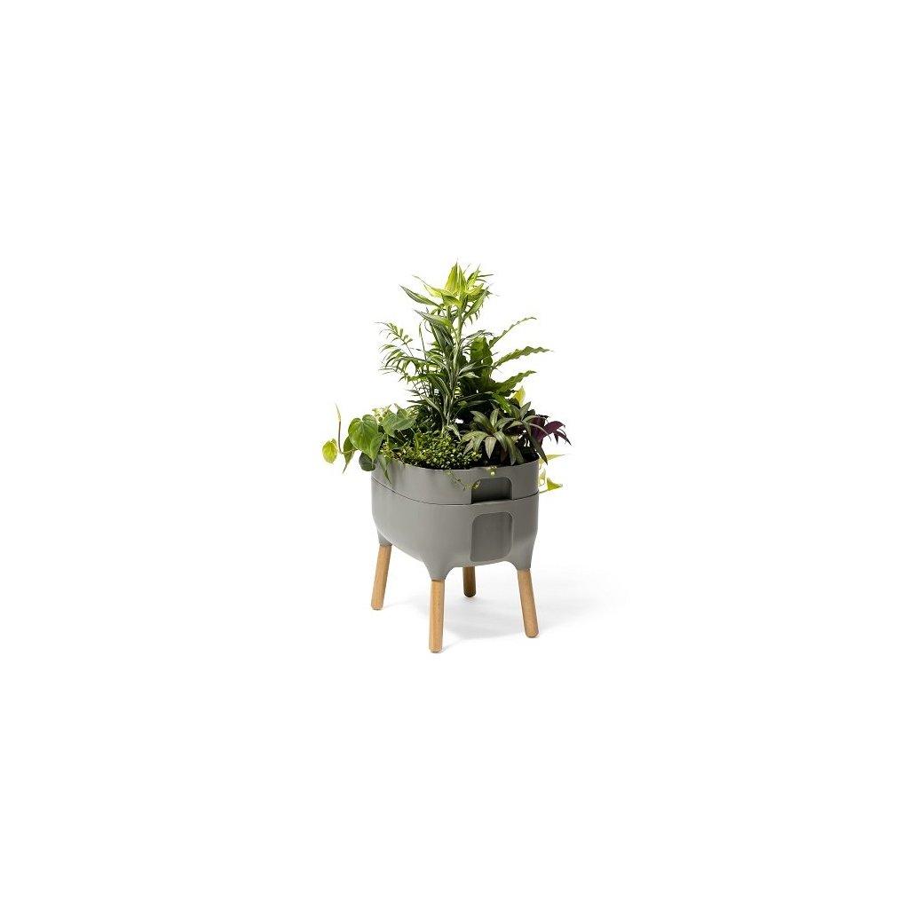 UrbAlive nízka nádoba na pestovanie - antracit