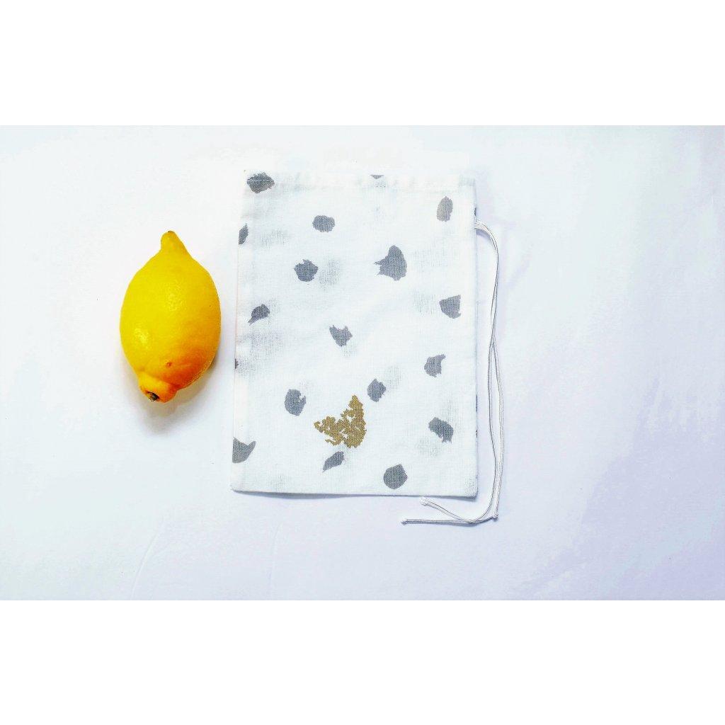 Plátený sáčok malý na sypané potraviny 15 x 21 cm