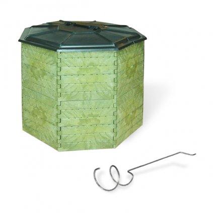 Kompostér JRK PREMIUM 1400  Sprievodca kompostovaním + prekopávač ZDARMA