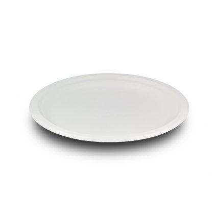 Kompostovateľný tanier plytký 18 cm cukr.trstina