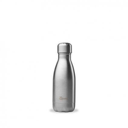 insulated stainless steel bottle brushed steel 260ml