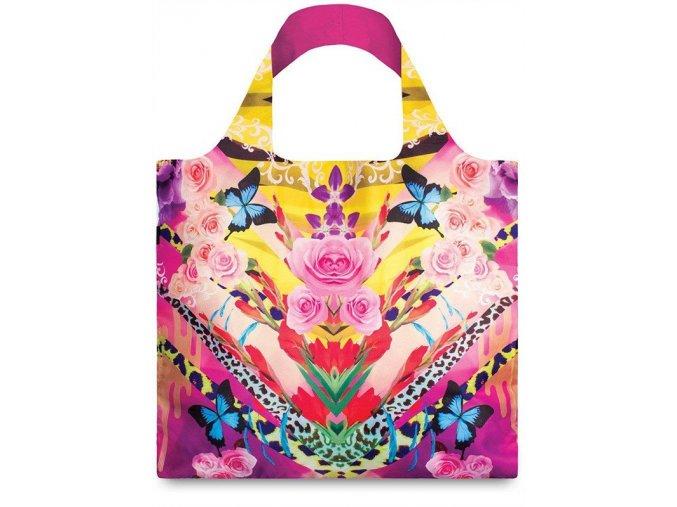 Nákupná taška LOQI Shinpei Naito Flower Dream