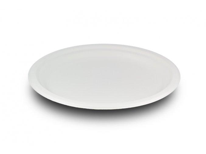 Kompostovateľný tanier plytký 17,8 cm cukr.trstina, kartón, 500 ks