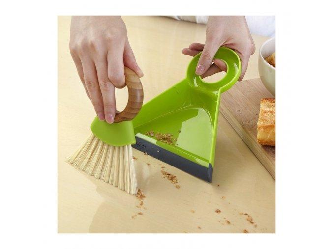 Mini lopatka s metličkou do kuchyne full circle