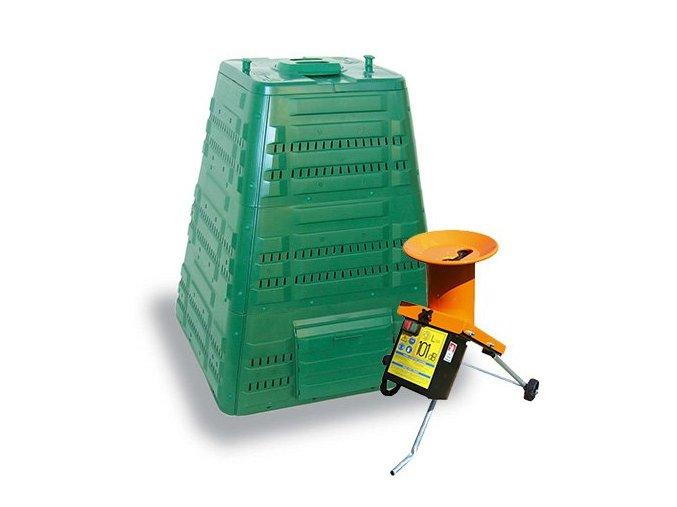 Set JRK Profi 700 zelený + záhradný drvič Shark 2,8 kW
