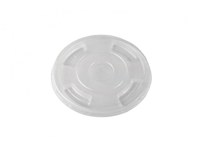 Kompostovateľný vrchnák 96 mm s dierkou, plochý, 50 ks