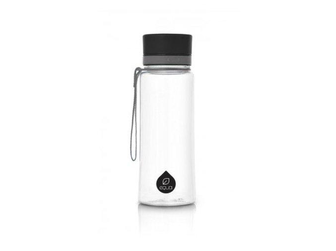Fľaša EQUA free BPA - Plain Black 600ml