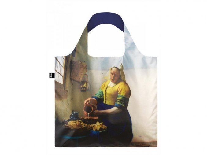 Nákupná taška LOQI Museum Vermeer - The Milkmaid with Irma Boom