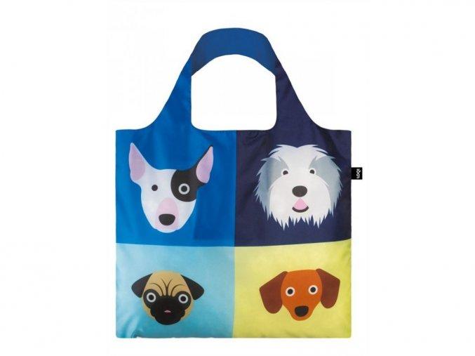 Nákupná taška LOQI Stephen Cheetham Dogs