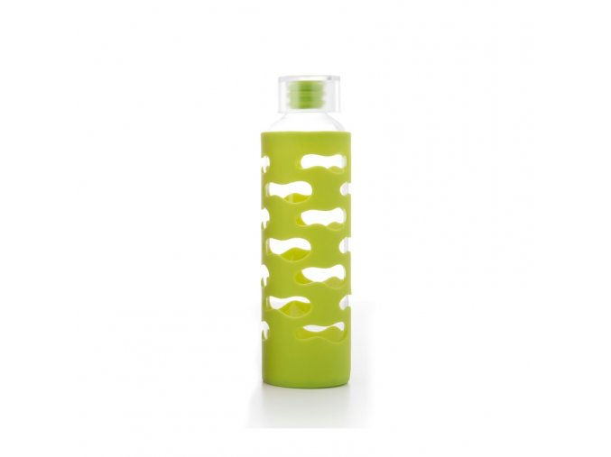 glass bottle with silicone sleeve lime