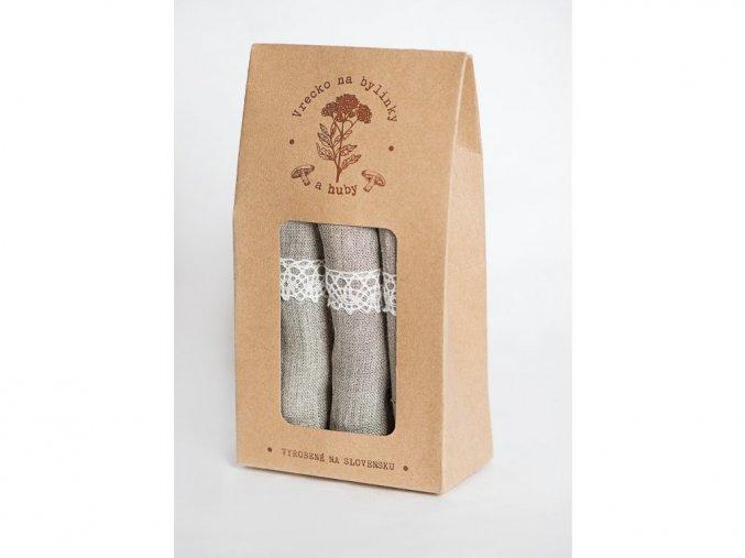 Vrecká na huby a bylinky - 3 ks