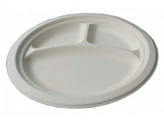 Kompostovateľný tanier okrúhly 26 cm - karton 500ks