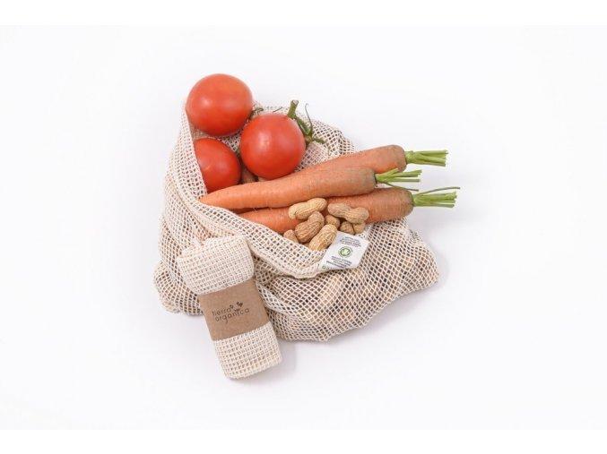 Sieťový sáčok z biobavlny na ovocie/zeleninu
