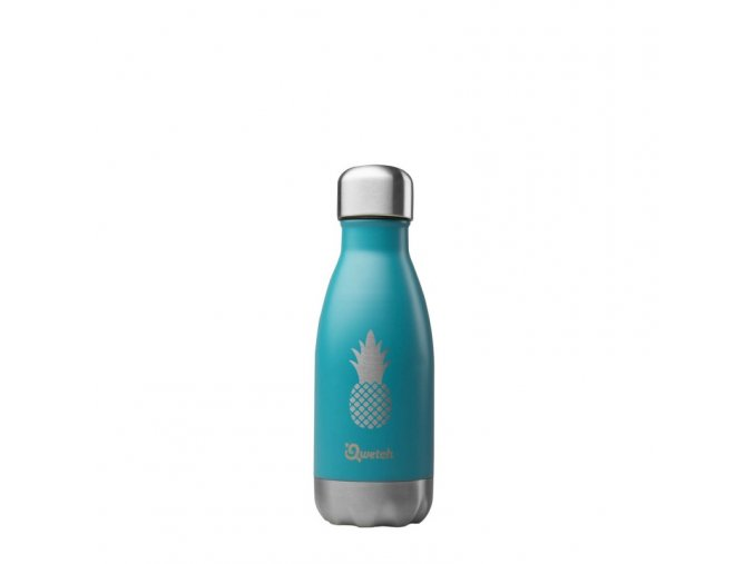 insulated stainless steel bottle pineapple turquoise 260ml