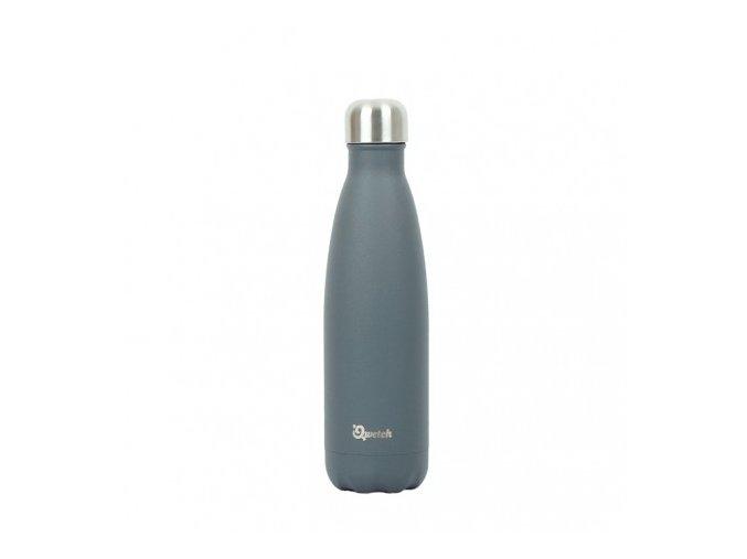 insulated stainless steel bottle granite grey 500ml