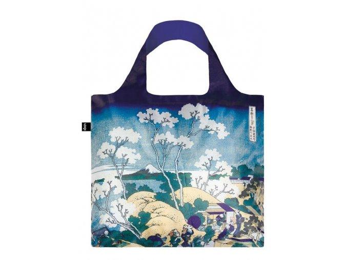 Nákupná taška LOQI Museum, Hokusai - Fuji from Gotenyama