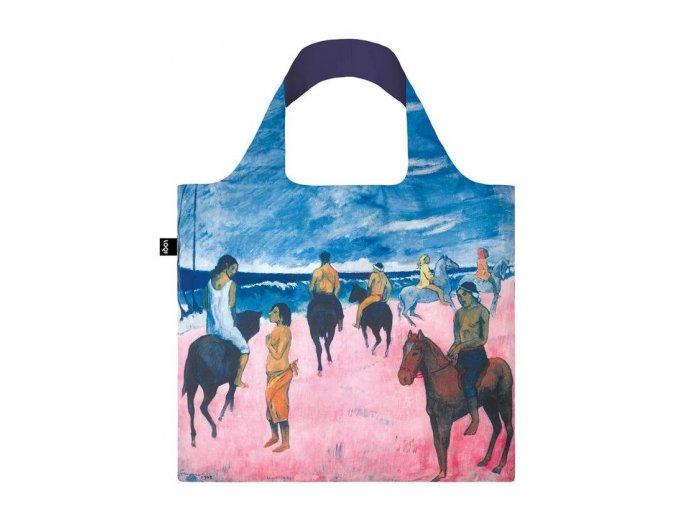 Nákupná taška LOQI Museum, Gauguin - Horseman on the Beach