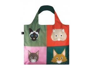 Nákupná taška LOQI Stephen Cheetham Cats