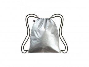 LOQI gymnastický ruksak Metallic Silver