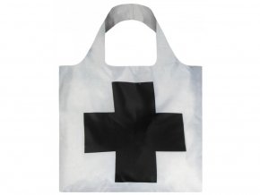 Nákupná taška LOQI Kazimir Malevich Black Cross