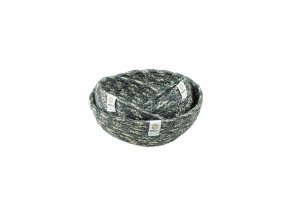 jute mini bowl set greywhite