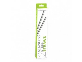 stainless steel straws set of 2