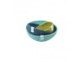jute mini bowl set ocean