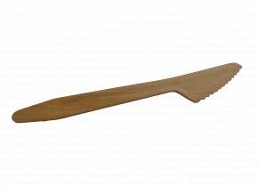Kompostovateľný jednorazový drevený nôž 16,5cm